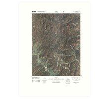 USGS TOPO Map Colorado CO Gore Mountain 20110210 TM Art Print
