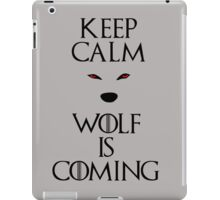 Keep calm wolf is coming - Game of Thrones iPad Case/Skin