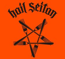 Hail Seitan 1.2 (black) Kids Clothes