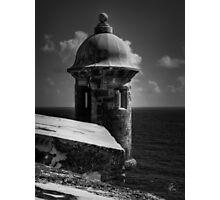 Garita del Morro 001 BW Photographic Print