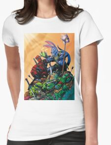 Salty Roo - Tonight, we dine on turtle soup! Womens Fitted T-Shirt