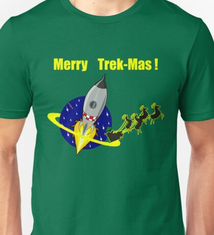 Star Spaceship Merry Trek-Mas T-shirt Unisex T-Shirt