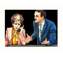 Fawlty Towers : Sybil and Basil Art Print
