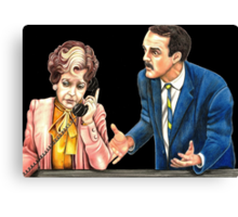 Fawlty Towers : Sybil and Basil Canvas Print