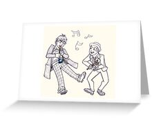 The Doctors Jamming Greeting Card