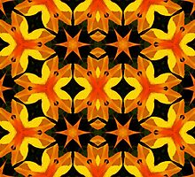 Kaleidoscope Geometry Pattern From Nature 50 by Kenneth Grzesik