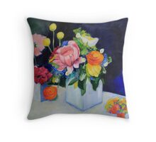 White Vase Throw Pillow