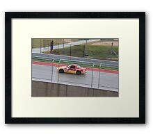Racing at COTA with Team ROADKILL Framed Print