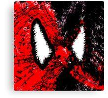 Spider Man & Venom Splatter Art Canvas Print