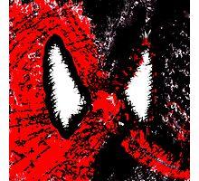 Spider Man & Venom Splatter Art Photographic Print