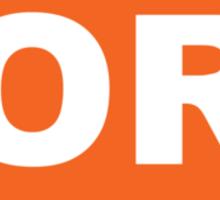 Oregon OR Euro Oval ORANGE Sticker