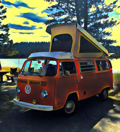 Lakefront Volkswagen Bus Westfalia Vintage VW Sticker