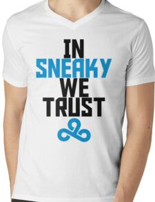 In Sneaky we trust Mens V-Neck T-Shirt