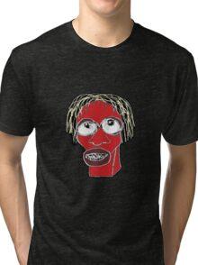 Grotesque Man Caricature Illustration Tri-blend T-Shirt