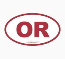 Oregon OR Euro Oval RED Kids Clothes