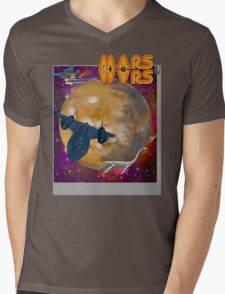 Super Mars Wars. Mens V-Neck T-Shirt