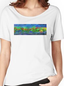 Abstract Roses Women's Relaxed Fit T-Shirt