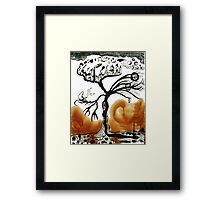dying tree of life Framed Print