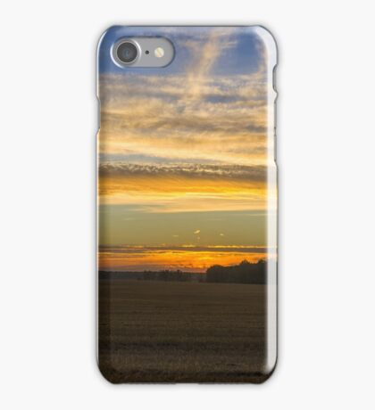 Field. Evening. Sun. iPhone Case/Skin