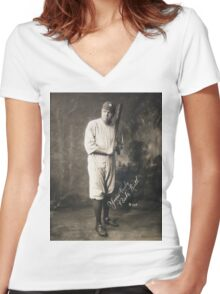Yours Truly, Babe Ruth - NY Yankees Women's Fitted V-Neck T-Shirt