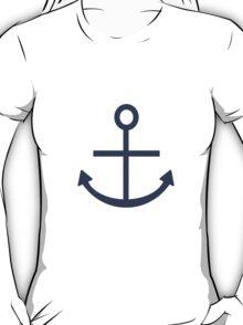 Rustic Navy Blue Ship Anchor T-Shirt