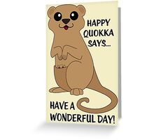 Happy Quokka Greeting Card