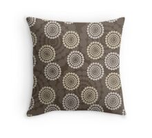 Rustic Brown Rhinestone Circles Throw Pillow