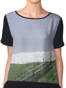 Up the Hill into the Sky Women's Chiffon Top