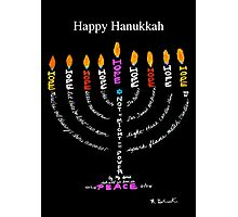 Happy Hanukkah Card Photographic Print