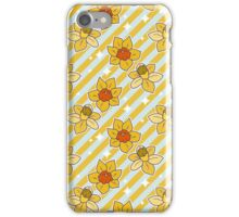 Daffodils Striped Pattern iPhone Case/Skin