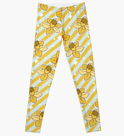 Daffodils Striped Pattern Leggings