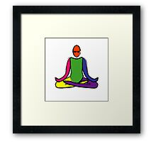 Painting of lotus yoga pose. Framed Print