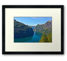 Views: 6891. Earth Wonders -  the Gerianger Fjord . Møre og Romsdal . Norway . by Doctor Andrzej Goszcz.  Framed Print