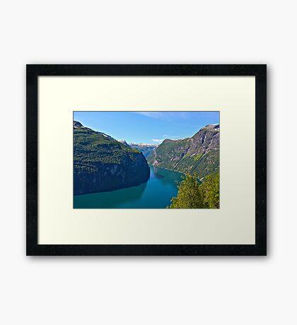 Views: 10661***. Earth Wonders -  the Gerianger Fjord . Møre og Romsdal . Norway . by Doctor Andrzej Goszcz.  Framed Print