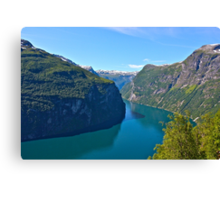 Views: 6891. Earth Wonders -  the Gerianger Fjord . Møre og Romsdal . Norway . by Doctor Andrzej Goszcz.  Canvas Print