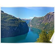 Views: 6891. Earth Wonders -  the Gerianger Fjord . Møre og Romsdal . Norway . by Doctor Andrzej Goszcz.  Poster