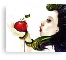 Eve and the Temptation Canvas Print