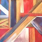 Abstract Flag by Lynn Wright