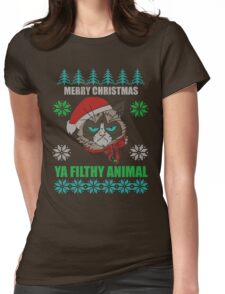 Merry Christmas Ya Filthy Animals Womens Fitted T-Shirt
