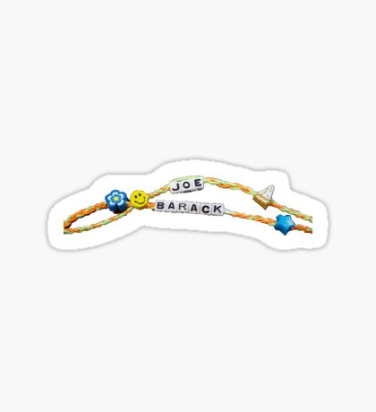 joe biden barack obama friendship bracelet Sticker