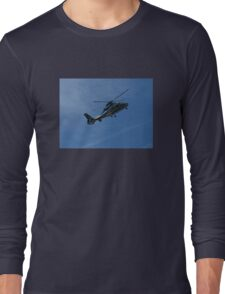 Helicopter on Blue, Chopper Long Sleeve T-Shirt