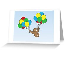 Silly Sky Sloth Greeting Card