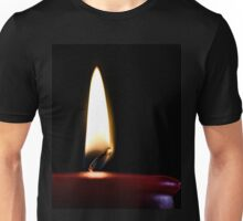 Red Candle and Flame Unisex T-Shirt