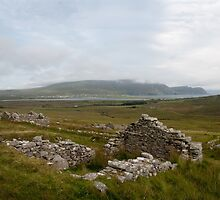 Achill Island Deserted Village 01 by Declan Howard