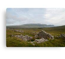 Achill Island Deserted Village 01 Canvas Print