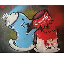 Spray can vs Campbell's Soup Photographic Print