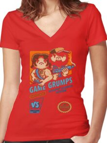 Game Grumps NES Cover Women's Fitted V-Neck T-Shirt