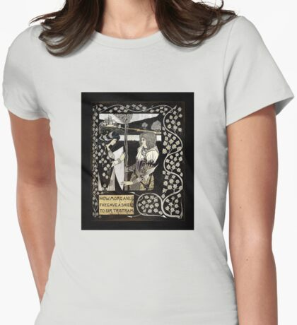 Morgan Le Fey Giving Sir Tristam a Shield  Womens Fitted T-Shirt