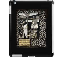 Morgan Le Fey Giving Sir Tristam a Shield  iPad Case/Skin