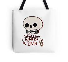 Skeleton War of 2k14 Tote Bag